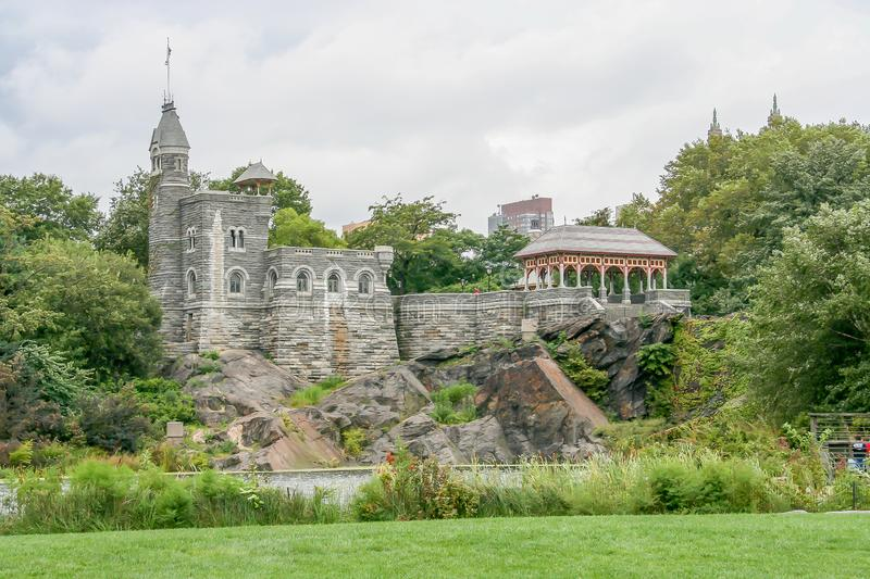 Belvedere Castle in the Central Park stock photography