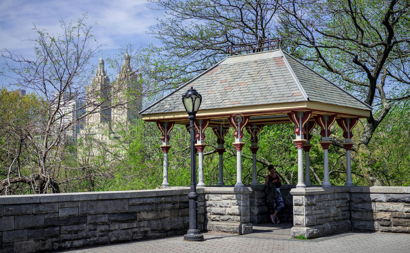 Belvedere Castle in central park, NY stock image