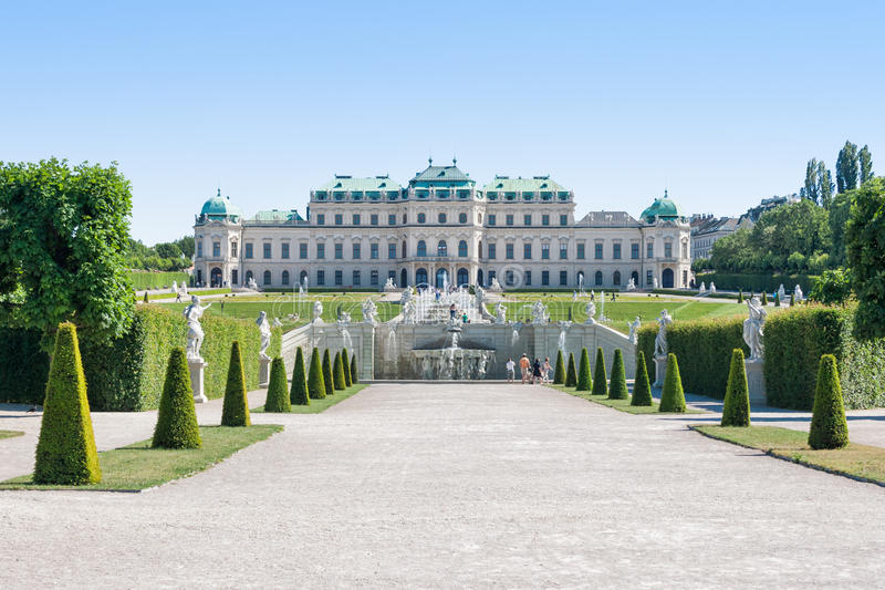 Belvedere Castle in Vienna stock images