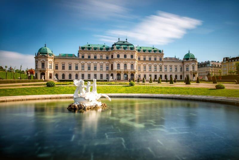 Belvedere de bouw complex in Wenen, Oostenrijk stock fotografie