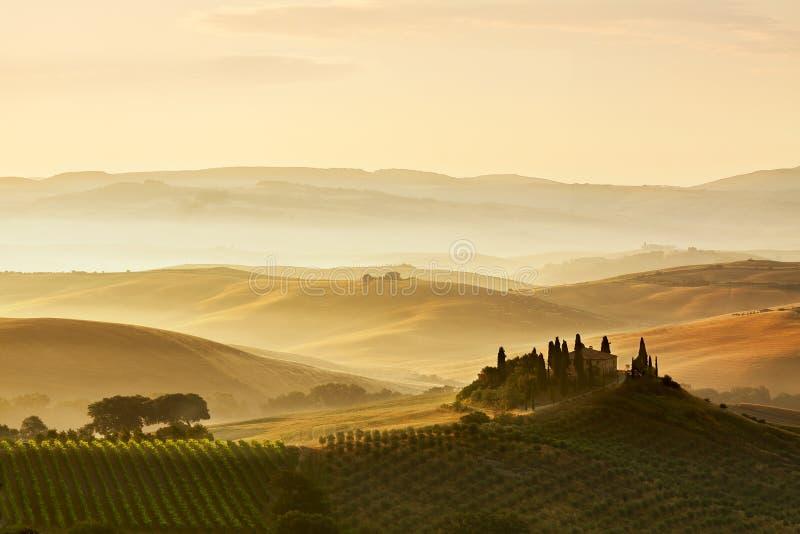 Belvedere de Toscana imagen de archivo