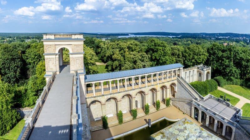 Belvedere, een paleis in de Nieuwe Tuin op de Pfingstberg-heuvel royalty-vrije stock fotografie