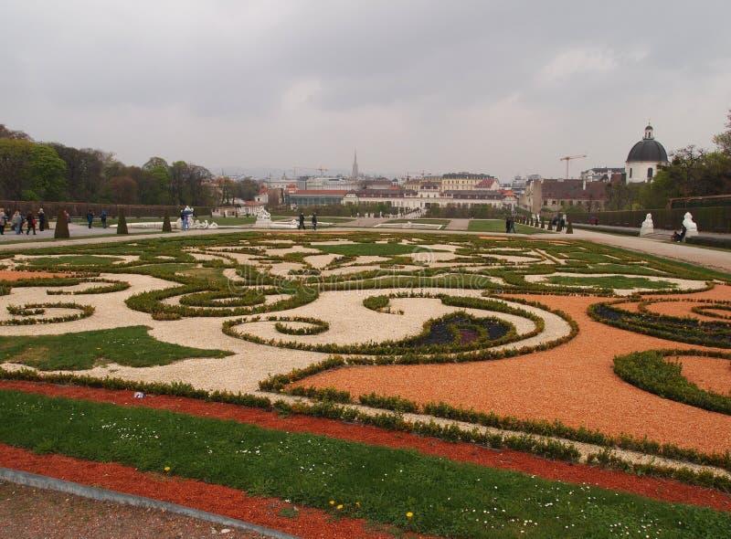 Belvedere garden. In Vienna, Austria stock photography