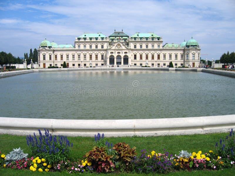belvedere pałacu Vienna austria fotografia royalty free