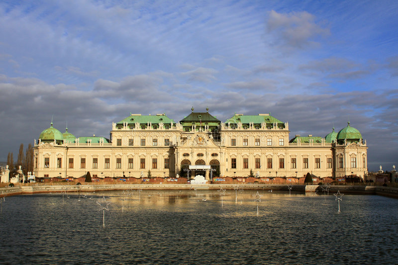 Belvedere Palace 04, Vienna, Austria royalty free stock photo