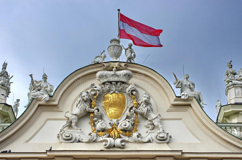 Belvedere Palace stockbilder