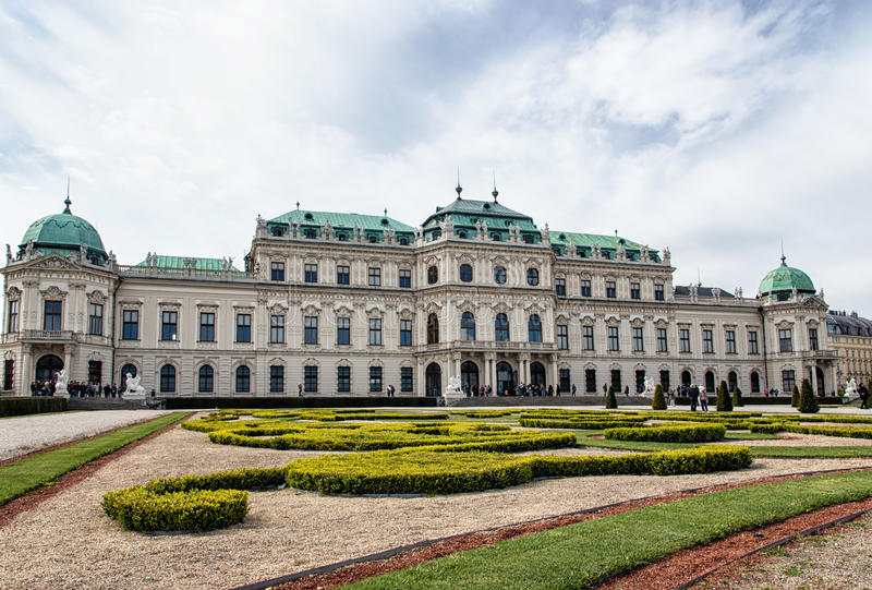 Belvedere Palace stock foto's