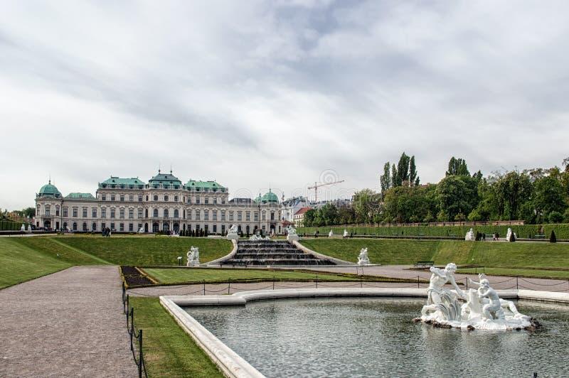 Belvedere Palace stock afbeeldingen