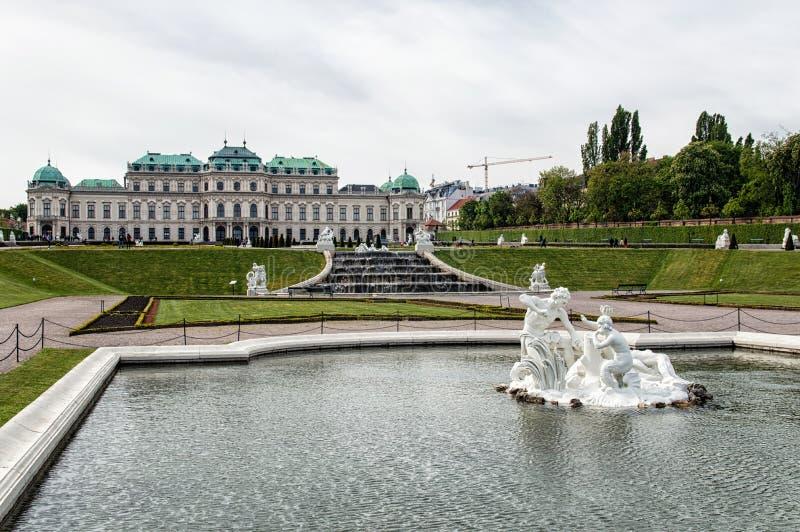 Belvedere Palace royalty-vrije stock foto's