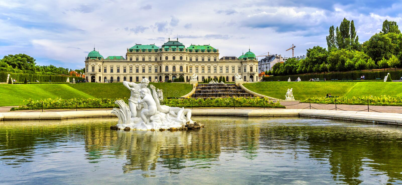 Belvedere palace and garden in Vienna. Austria stock images