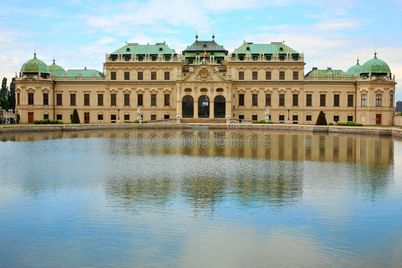 Belvedere Palace.Vienna foto de stock royalty free