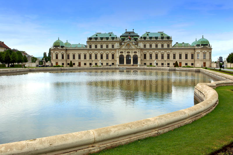 Belvedere Palace.Vienna royalty free stock photos