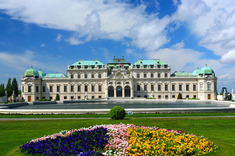 Belvedere Palace.Vienna stock photography