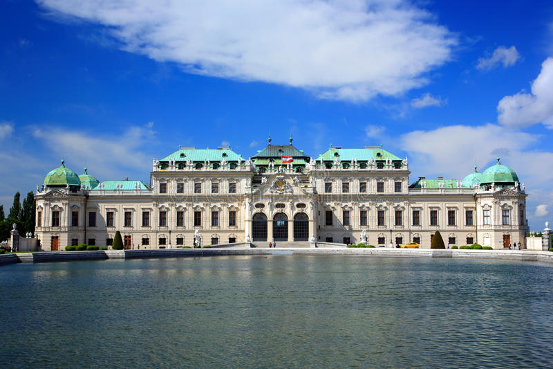 Belvedere Palace.Vienna stock image
