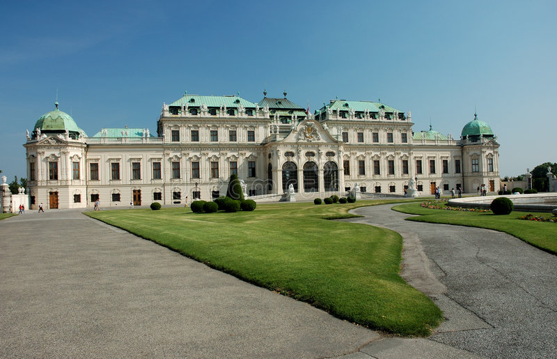 Belvedere Palace in Vienna stock images