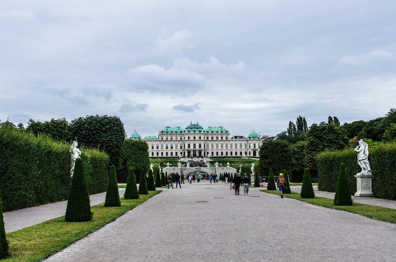 Belvedere Palace royalty free stock photos