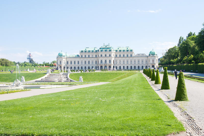 Belvedere Palace, Wien, Austria royalty free stock images