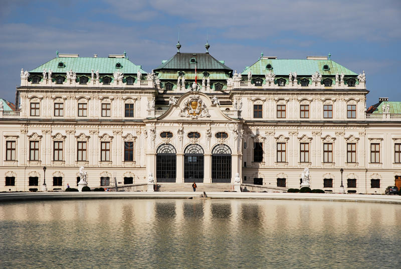 Belvedere-Palast von Wien lizenzfreie stockfotos