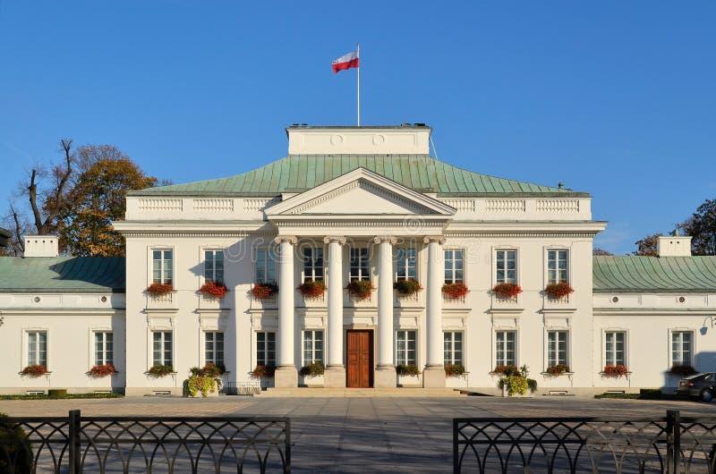 Belvedere-Palast in Warschau (Polen) stockfotos