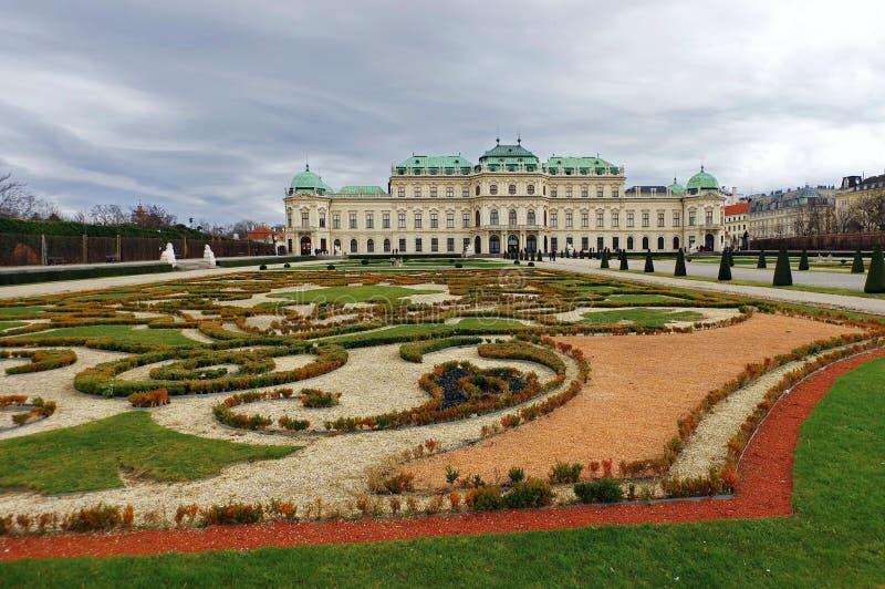 Belvedere-Palast - Wien, Österreich stockfotos