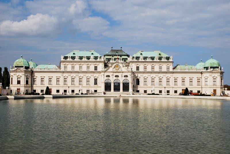 Belvedere-Palast in Wien stockbilder