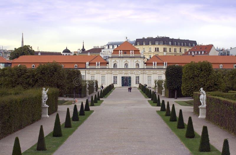 Belvedere-Palastkomplex Wiens Österreich lizenzfreies stockbild
