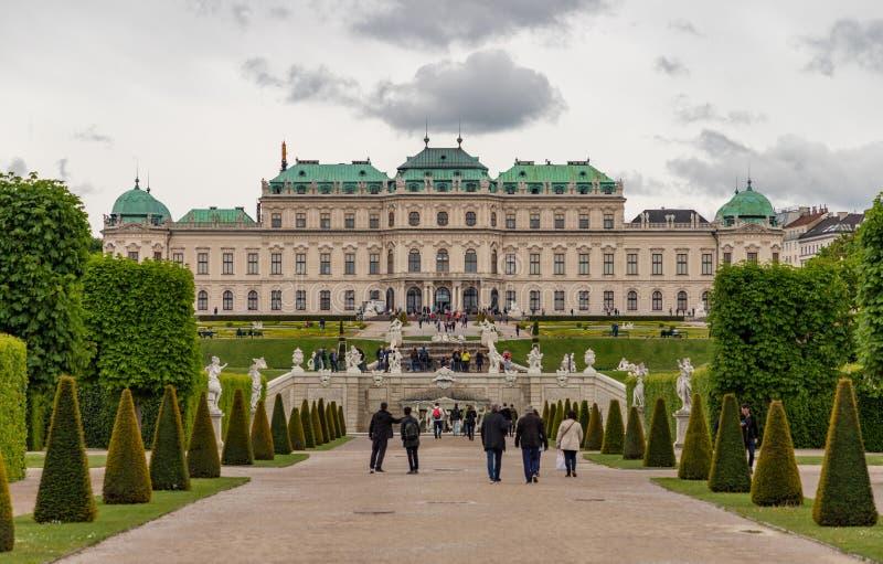 Belvedere Paleis VIII royalty-vrije stock fotografie
