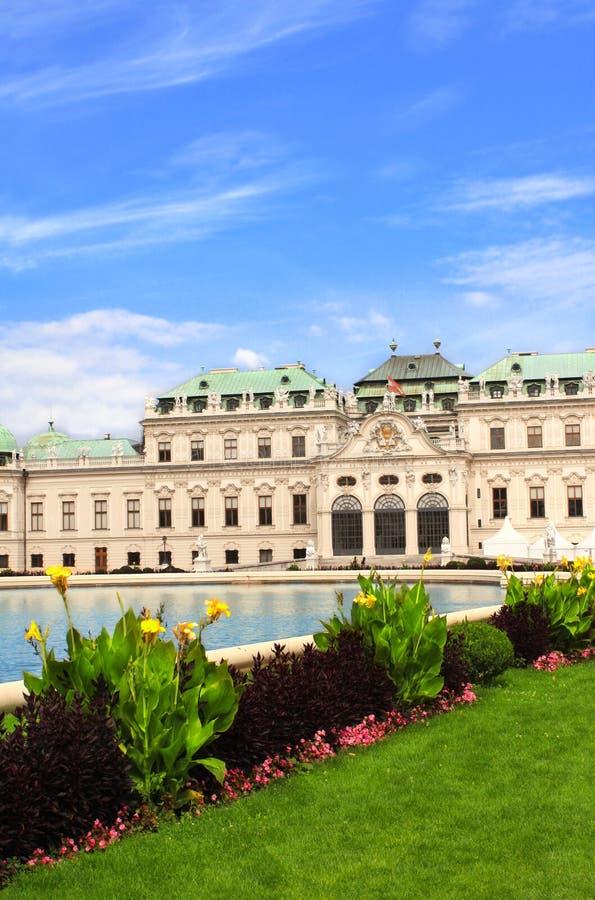 Belvedere paleis, Wenen stock foto's