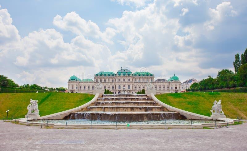 Belvedere Paleis in Wenen royalty-vrije stock fotografie