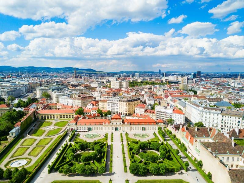 Belvedere Paleis in Wenen stock afbeeldingen
