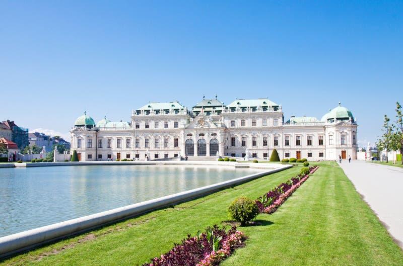 Belvedere Paleis, Wien, Oostenrijk royalty-vrije stock afbeeldingen