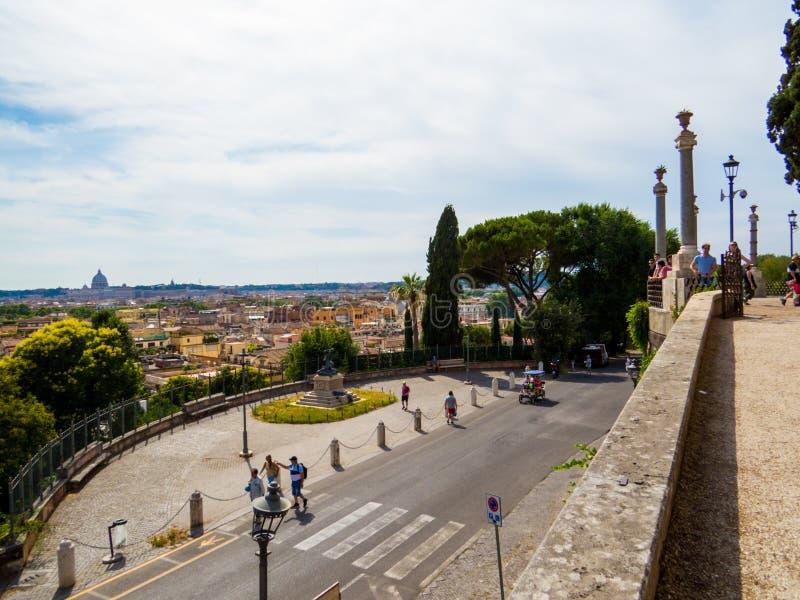 Belvedere, Pincian Hill, Roma, Itália fotos de stock