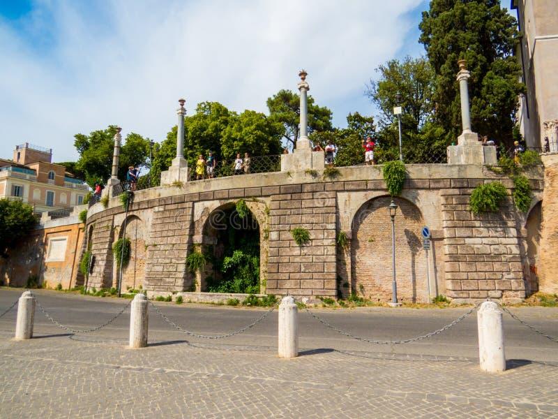 Belvedere, Pincian Hill, Roma, Itália foto de stock royalty free