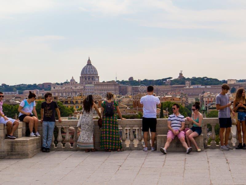 Belvedere, Pincian Hill, Roma, Itália fotos de stock royalty free