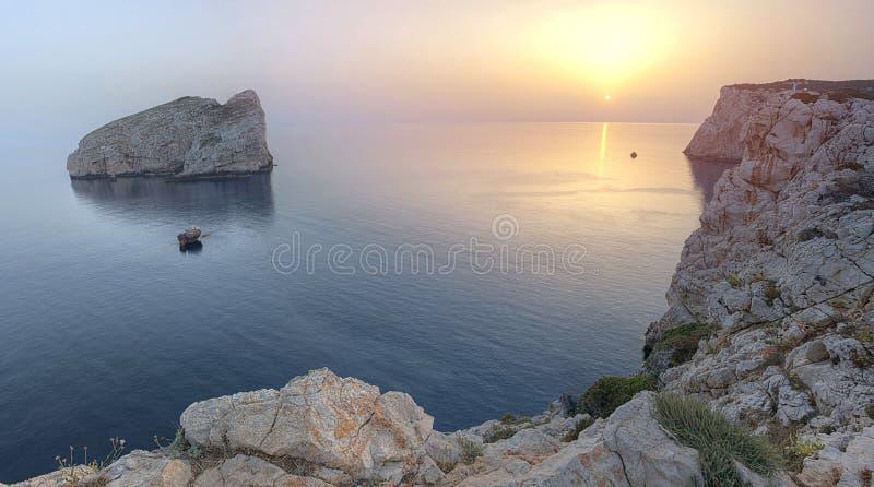 Belvedere point near Neptune`s Grotto, Sardinia, Italy royalty free stock image