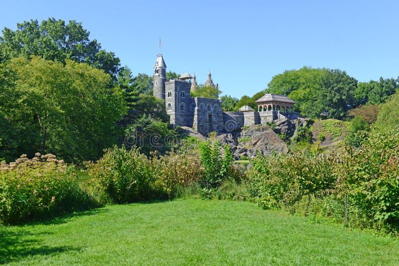 Belvedere-Schloss, Central Park, New York City lizenzfreie stockfotos