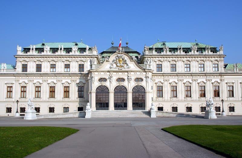 Belvedere-Schloss Wien lizenzfreie stockbilder