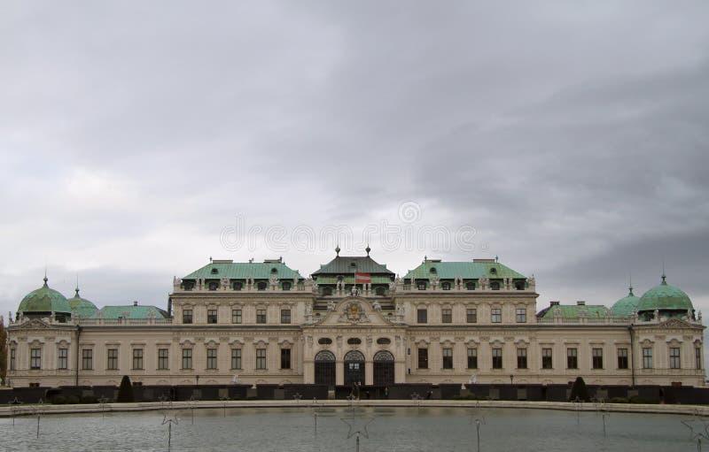 Belvedere superior del palacio histórico en Viena foto de archivo