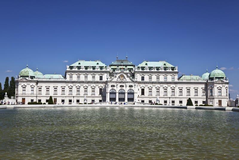 Belvedere superior del palacio histórico, Viena, Austria fotografía de archivo