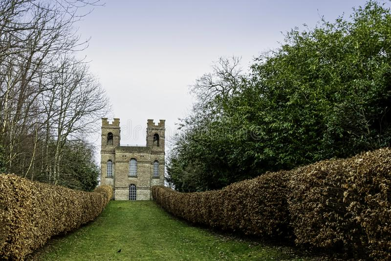 Belvedere Tower, Claremont Landscape Garden, Esher, UK. The Belvedere Tower, Claremont Landscape Garden, Esher, United Kingdom royalty free stock photography