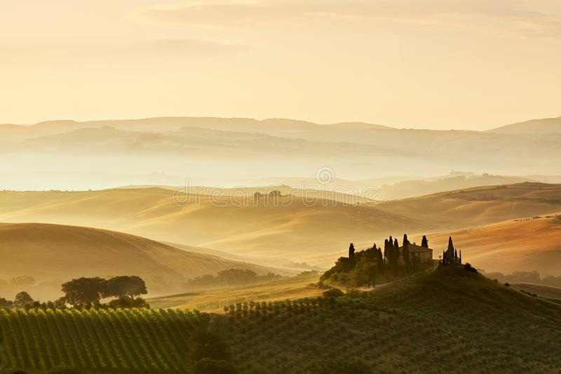Belvedere of Tuscany stock image