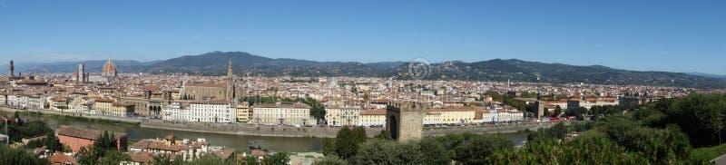 Belvedere van de stad van Florence stock foto's