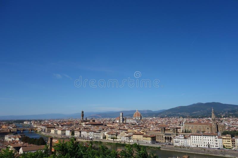 Belvedere van de stad van Florence stock fotografie
