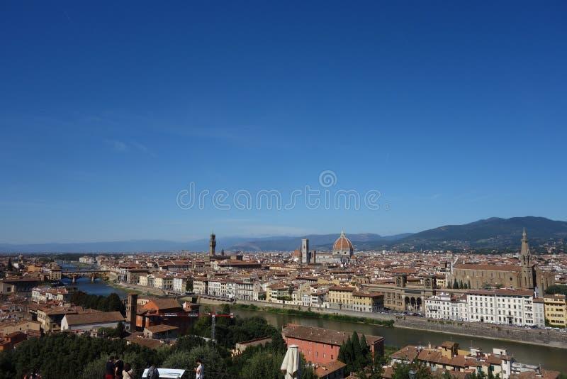 Belvedere van de stad van Florence stock afbeeldingen