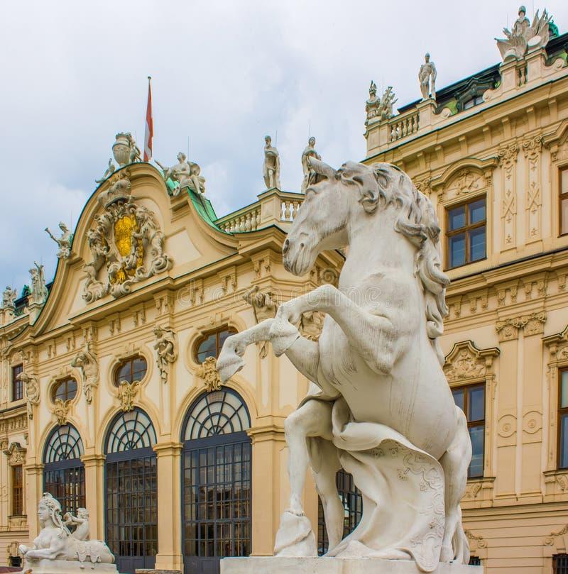 Belvedere van Wenen Paardstandbeeld royalty-vrije stock foto