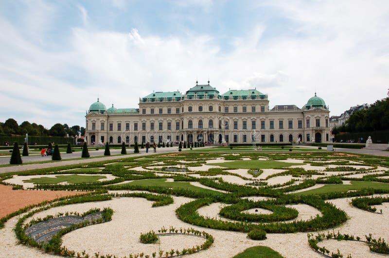 Belvedere in Vienna royalty free stock photos