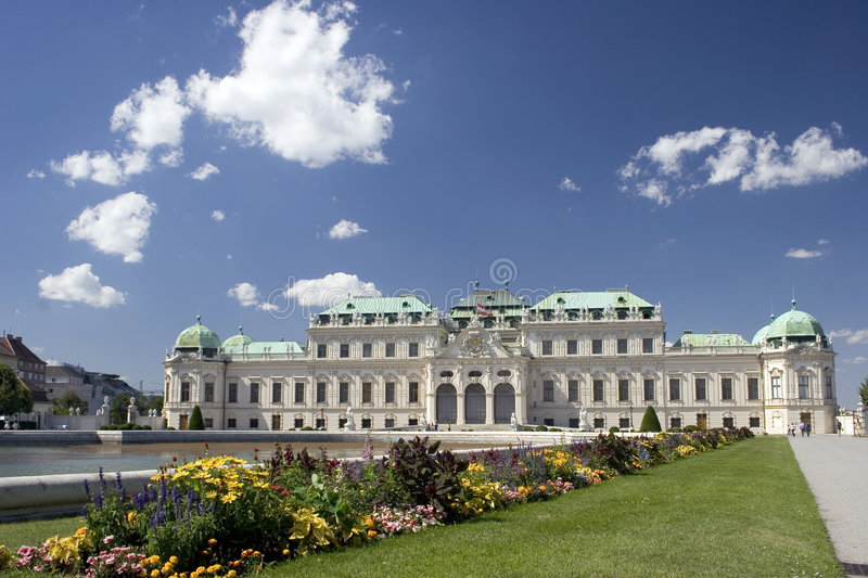 Belvedere in Vienna stock images