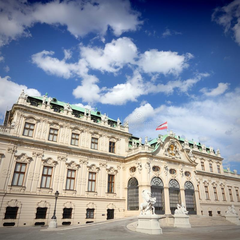 Belvedere Vienna royalty free stock photography