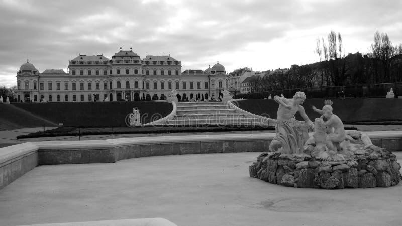 Belvedere in Wenen royalty-vrije stock foto