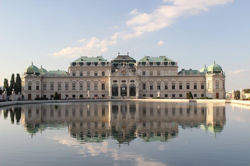 Belvedere Wenen, Oostenrijk stock afbeelding